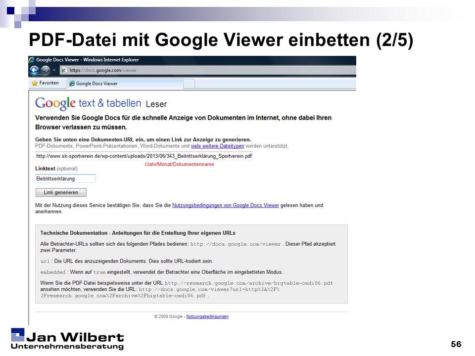 PDF-Datei mit Google Viewer einbetten (2/5) 56