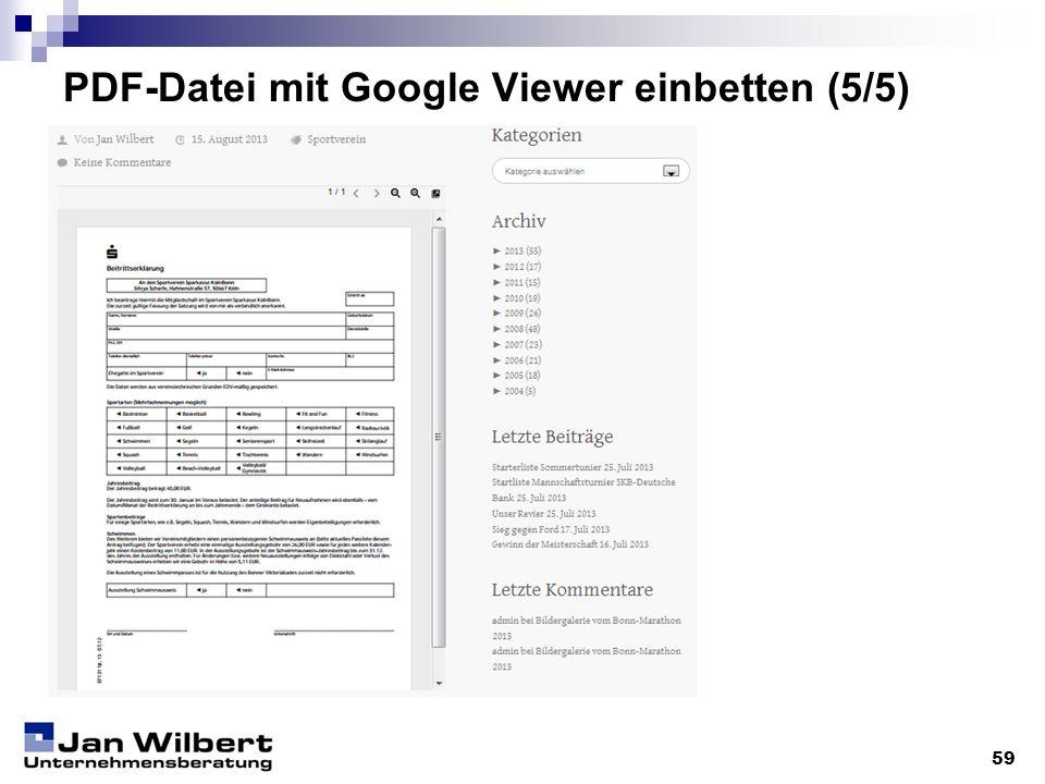 PDF-Datei mit Google Viewer einbetten (5/5) 59