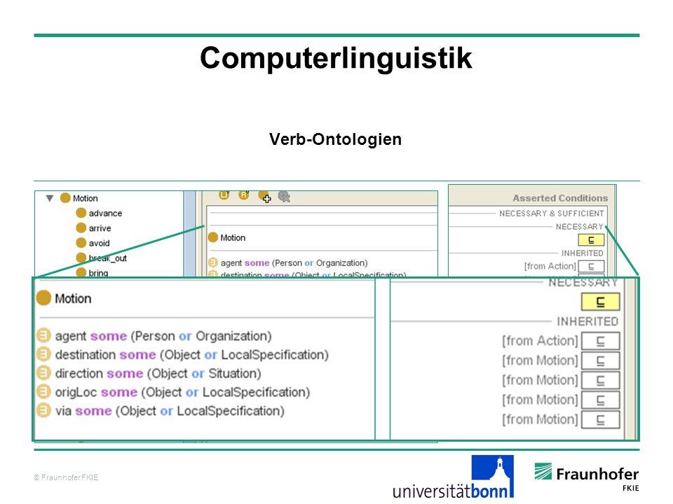 © Fraunhofer FKIE Computerlinguistik Verb-Ontologien