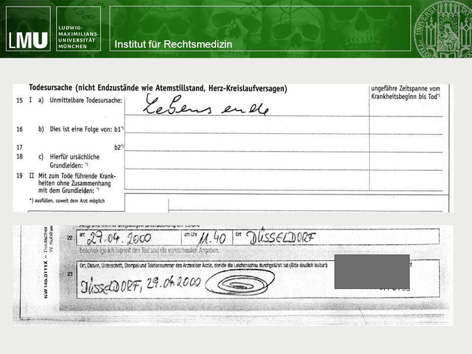 Institut für Rechtsmedizin Nichtärztliche Vorsichtung Zwei Systeme mSTaRT © modified simple triage and rapid treatment Rot-Weiss H.A.