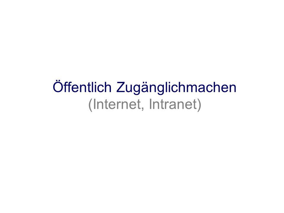 Öffentlich Zugänglichmachen (Internet, Intranet)