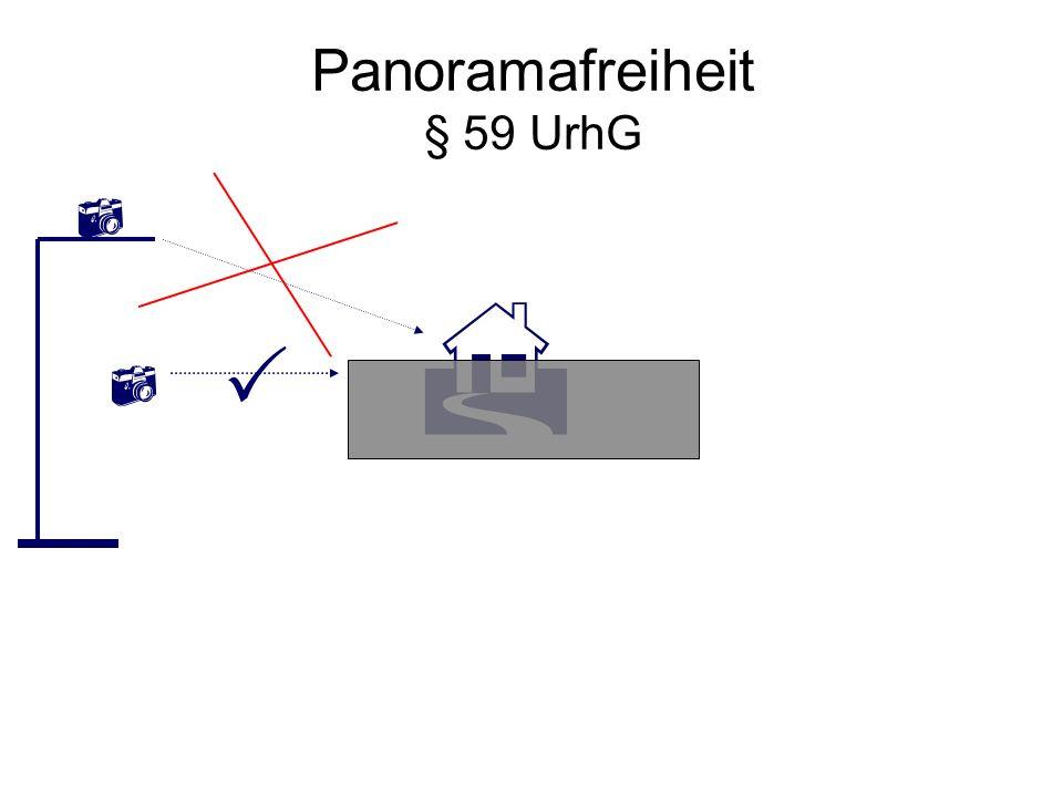 Panoramafreiheit § 59 UrhG