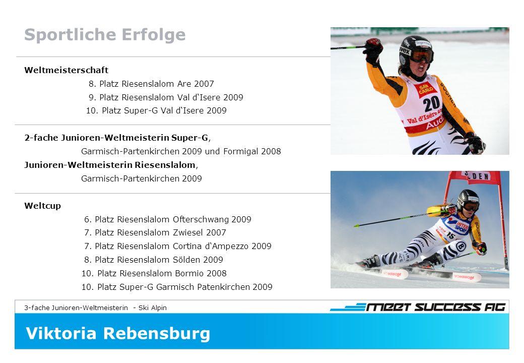 3-fache Junioren-Weltmeisterin - Ski Alpin Viktoria Rebensburg Sportliche Erfolge Weltmeisterschaft 8.