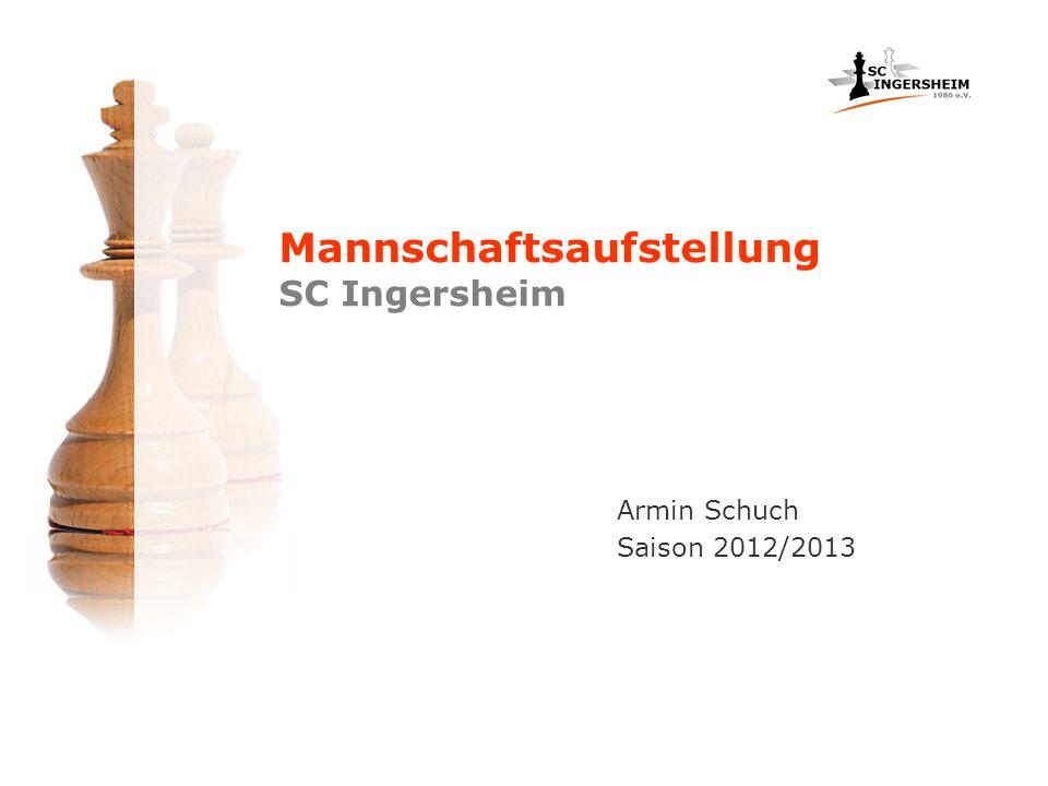 Mannschaftsaufstellung SC Ingersheim Armin Schuch Saison 2012/2013