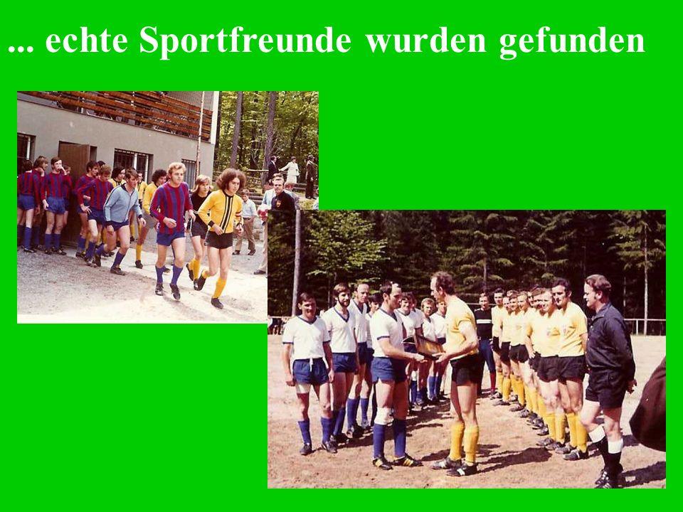 ... echte Sportfreunde wurden gefunden