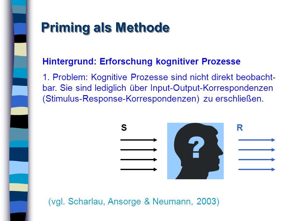 Hintergrund: Erforschung kognitiver Prozesse 1. Problem: Kognitive Prozesse sind nicht direkt beobacht- bar. Sie sind lediglich über Input-Output-Korr