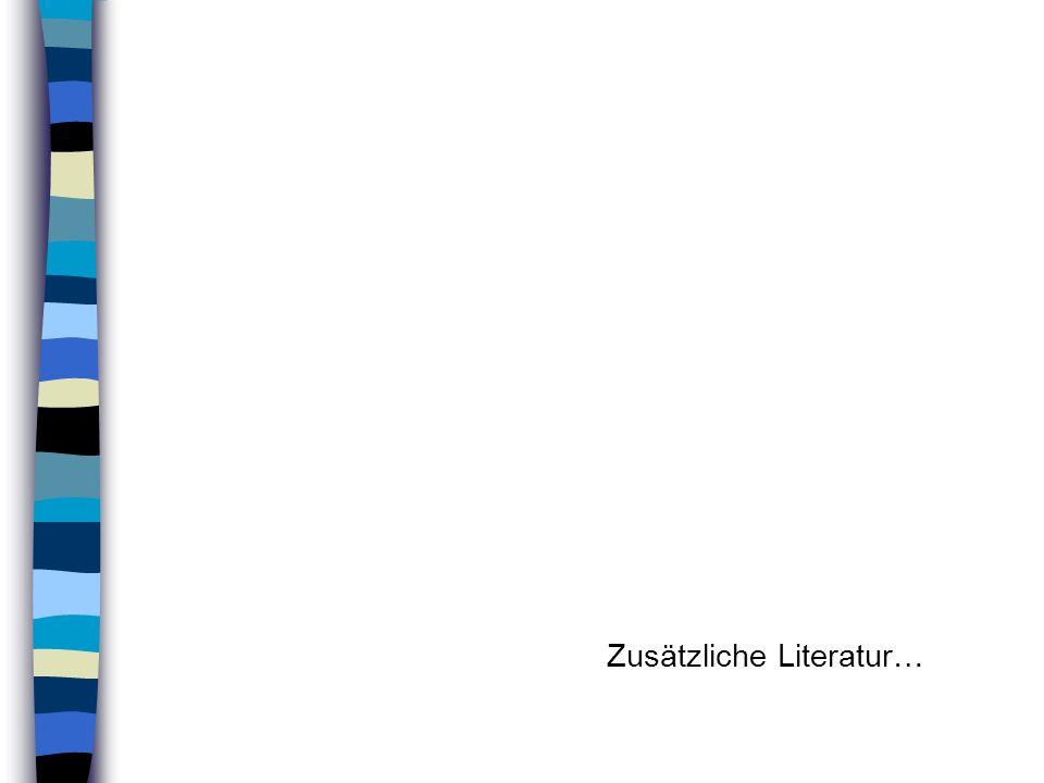 Zusätzliche Literatur…