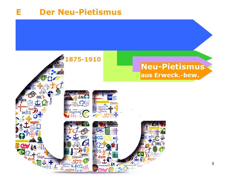 8 EDer Neu-Pietismus Neu-Pietismus aus Erweck.-bew. 1875-1910