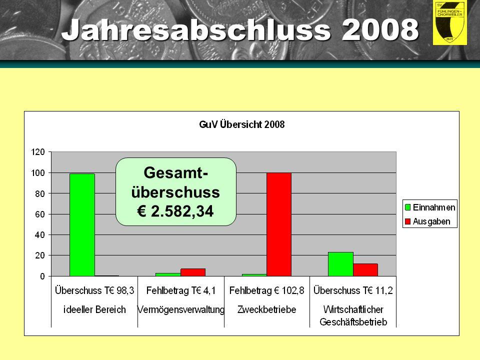 Jahresabschluss 2008 Anleitung: Dies sind eingebettete Diagramme.