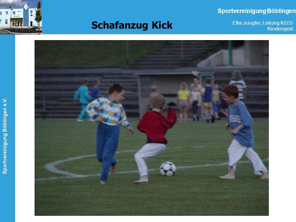 Sportvereinigung Böblingen e.V. Elke Jungfer, Leitung KiSS/ Kindersport Sportvereinigung Böblingen Schafanzug Kick
