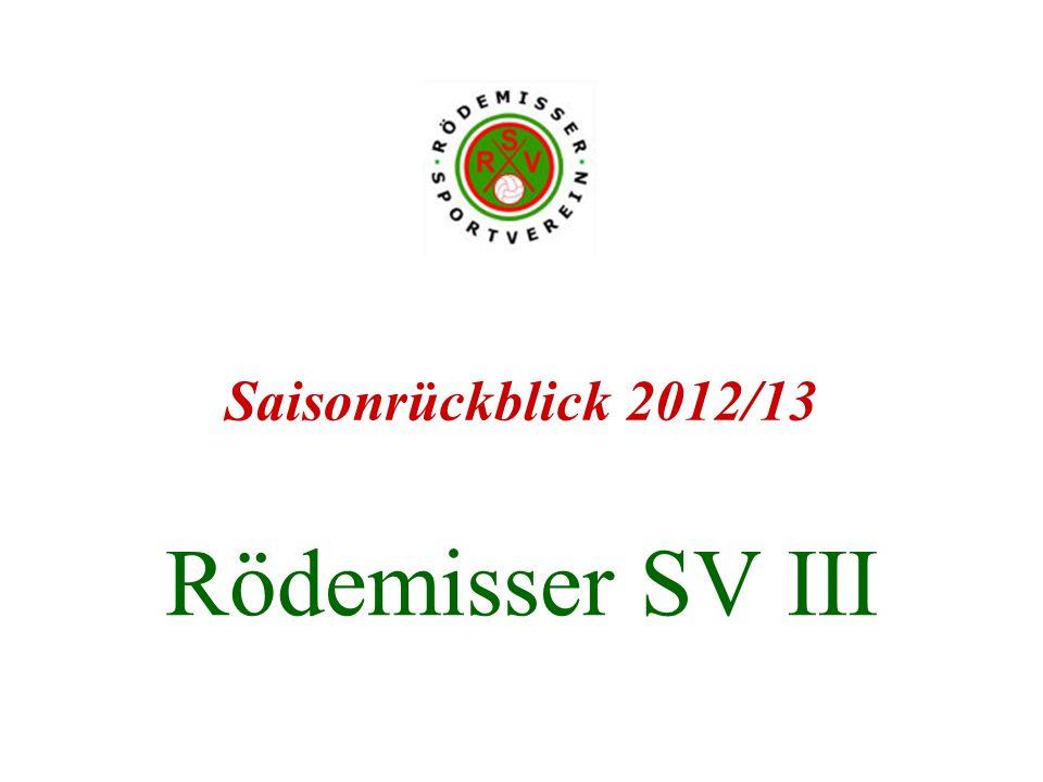 Rödemisser SV III Saisonrückblick 2012/13