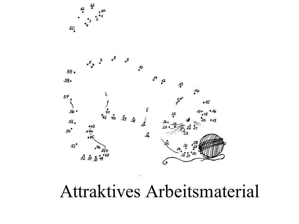 Attraktives Arbeitsmaterial