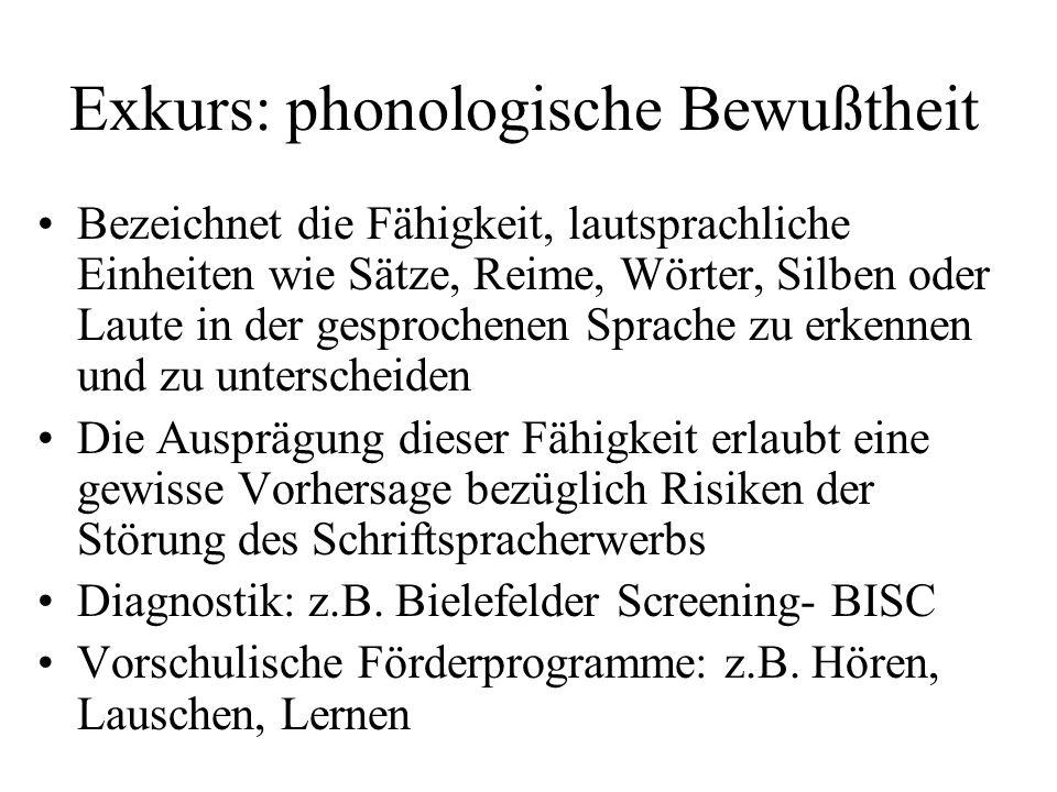 Überblick LRS: Prävalenz Je nach Diagnoskriterien und Stichprobe liegt die Häufigkeit zwischen 4 und 8% Bei Annahme der Kriterien der Leitlinien der Deutschen Gesellschaft für Kinder- und Jugendpsychiatrie und Psychotherapie (2003) ergibt sich eine Prävalenzrate von etwa 6% Jungen sind von LRS häufiger betroffen