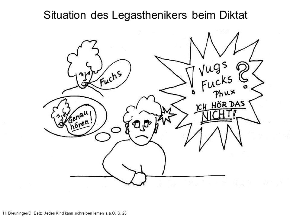 H. Breuninger/D. Betz: Jedes Kind kann schreiben lernen a.a.O. S. 26 Situation des Legasthenikers beim Diktat