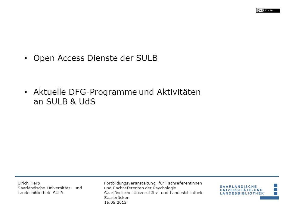Fortbildungsveranstaltung für Fachreferentinnen und Fachreferenten der Psychologie Saarländische Universitäts- und Landesbibliothek Saarbrücken 15.05.2013 1.
