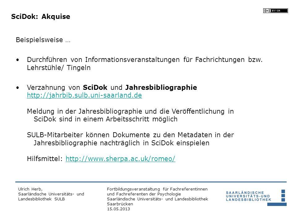 Fortbildungsveranstaltung für Fachreferentinnen und Fachreferenten der Psychologie Saarländische Universitäts- und Landesbibliothek Saarbrücken 15.05.2013 Wertvoll.