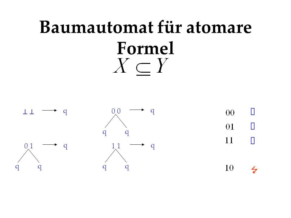 Baumautomat für atomare Formel q qq 0 q qq 1 q qq 0 1 q