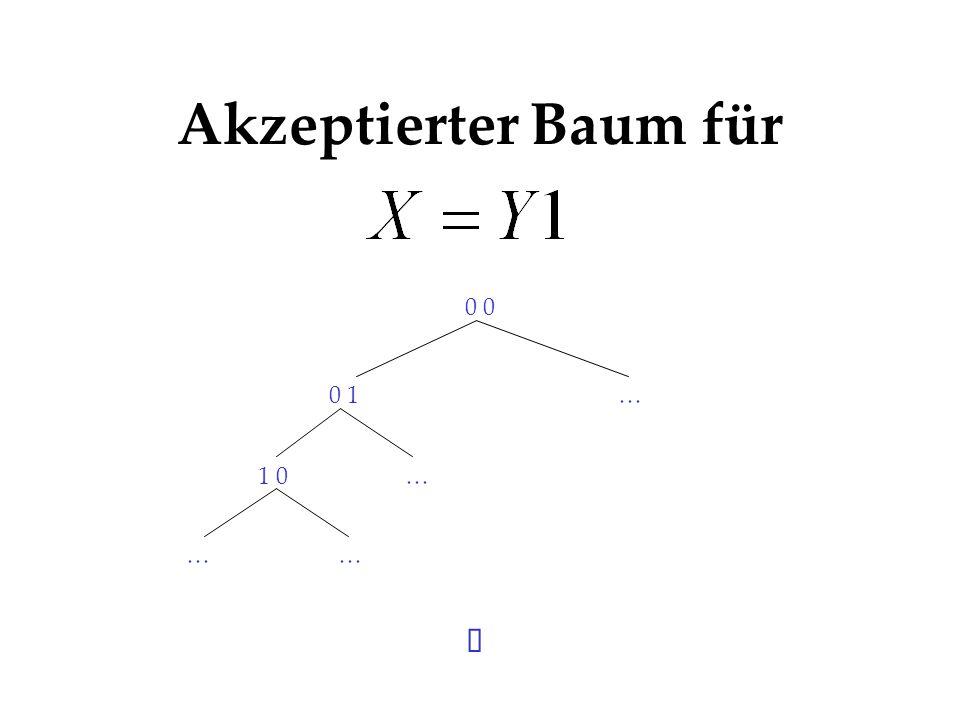 Akzeptierter Baum für 0 0 1… 1 0 …… …