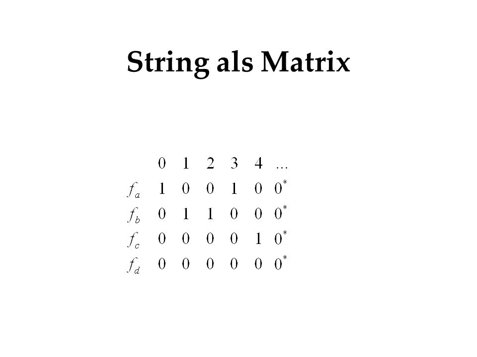 String als Matrix