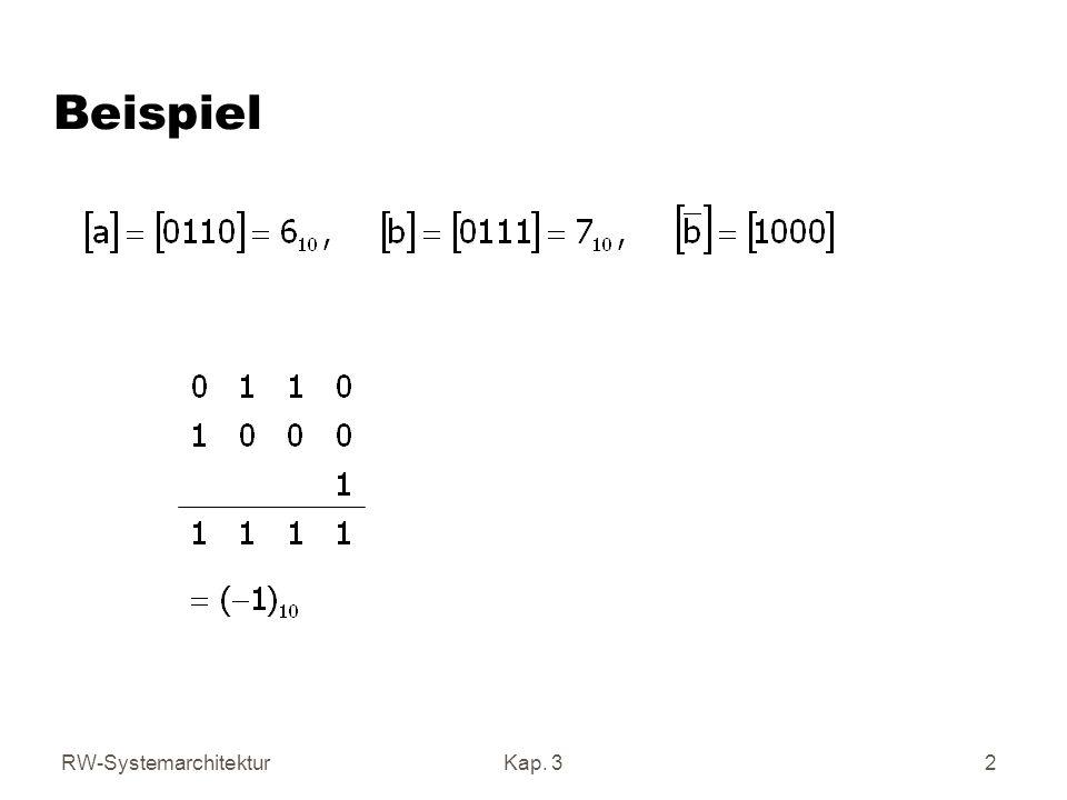 RW-SystemarchitekturKap. 32 Beispiel