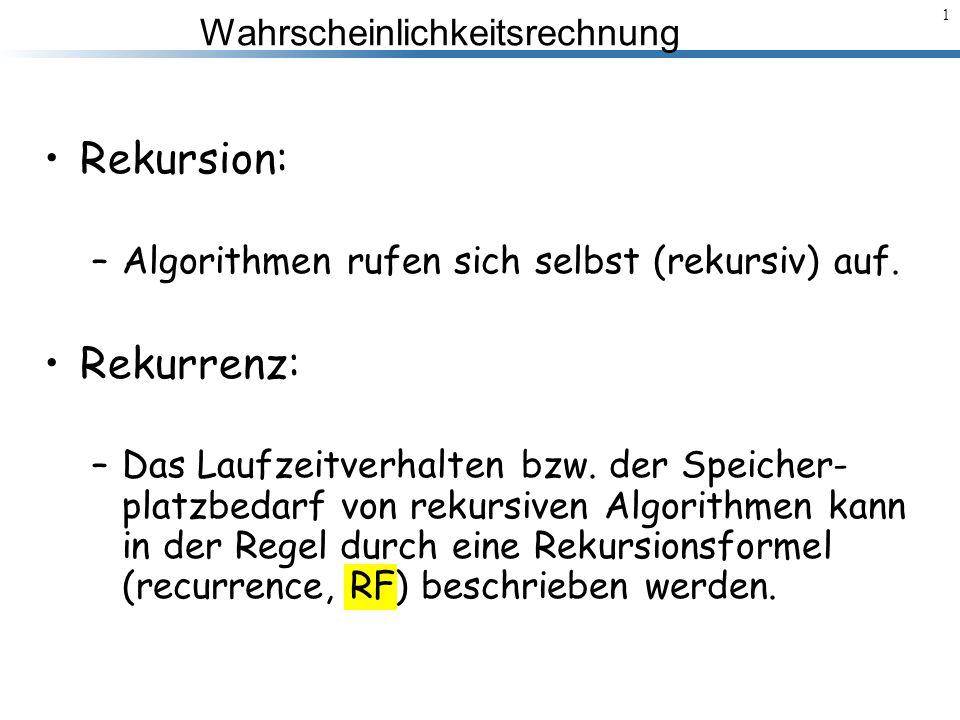 Wahrscheinlichkeitsrechnung 2 Beispiel: MergeSort.