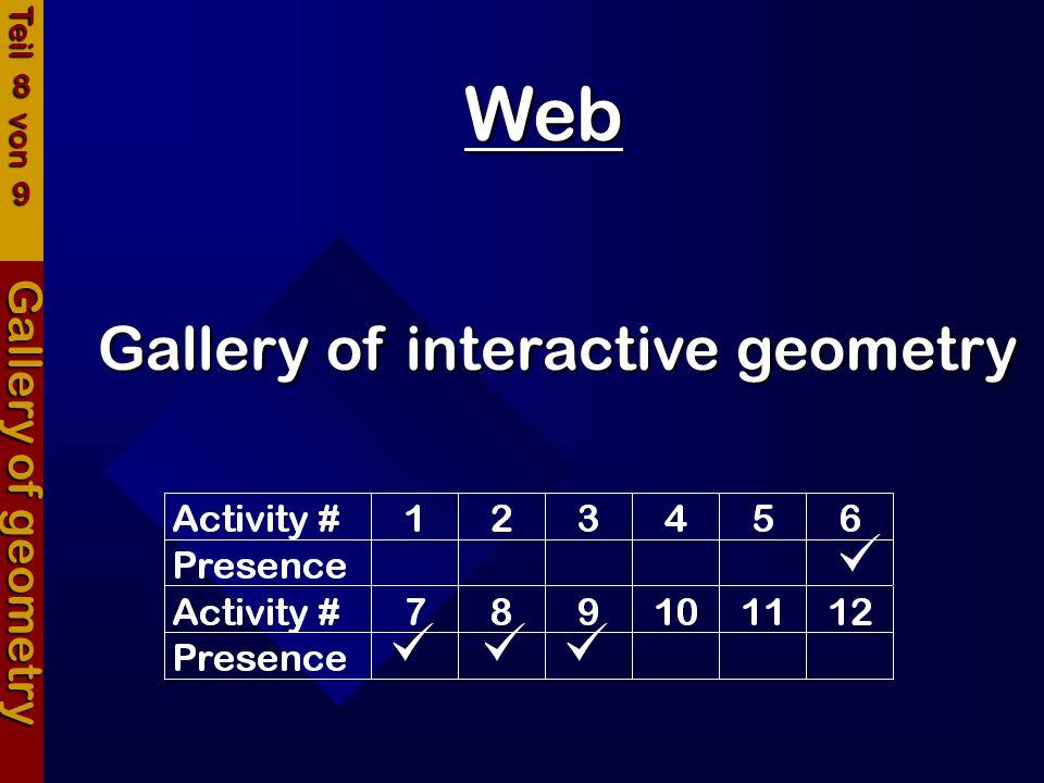 Web Gallery of geometry Gallery of interactive geometry Teil 8 von 9