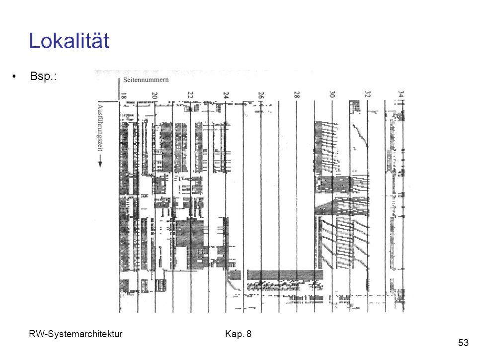 RW-SystemarchitekturKap. 8 53 Lokalität Bsp.: