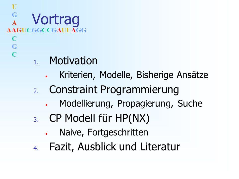 AAGUCGGCCGAUUAGG UGACGCUGACGC Vortrag 1. Motivation Kriterien, Modelle, Bisherige Ansätze 2.