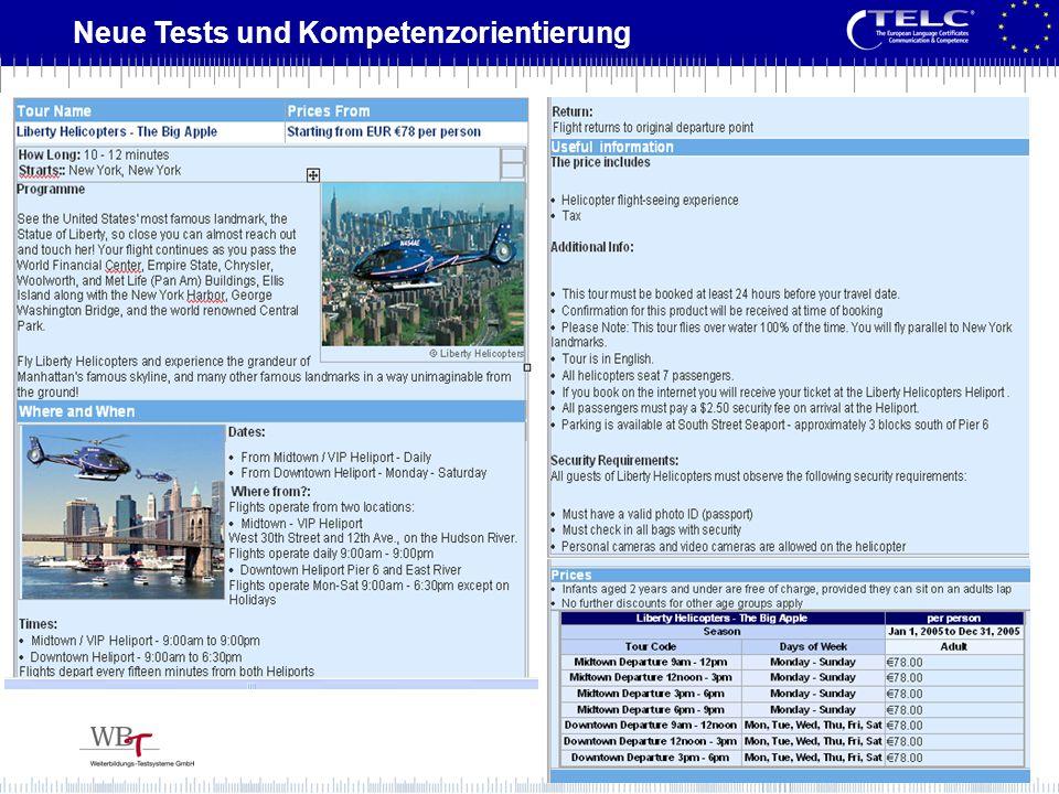 Neue Tests und Kompetenzorientierung