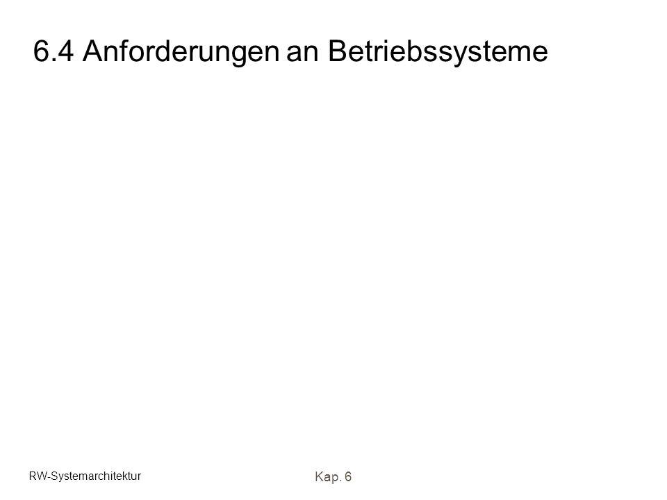 RW-Systemarchitektur Kap. 6 6.4 Anforderungen an Betriebssysteme