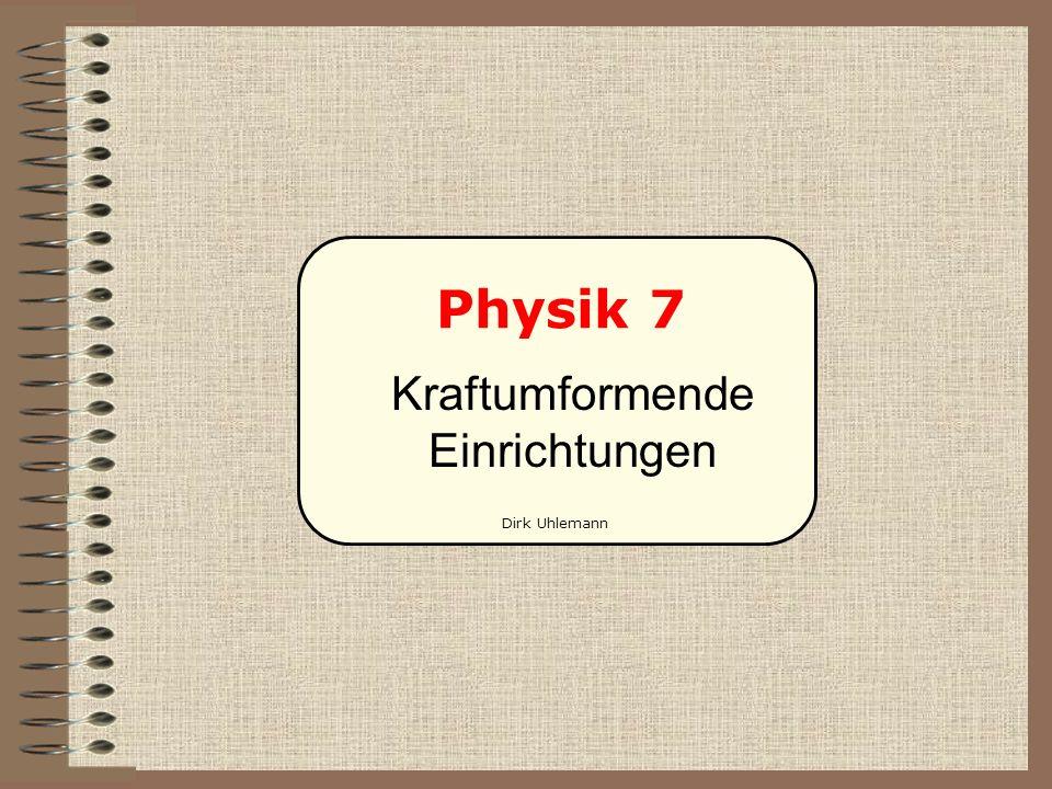 Physik 7 Kraftumformende Einrichtungen Dirk Uhlemann