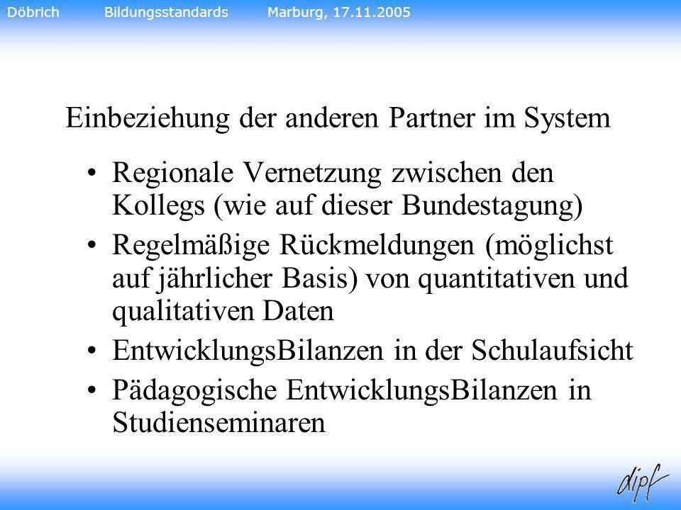 32 Einbeziehung der anderen Partner im System Regionale Vernetzung zwischen den Kollegs (wie auf dieser Bundestagung) Regelmäßige Rückmeldungen (mögli
