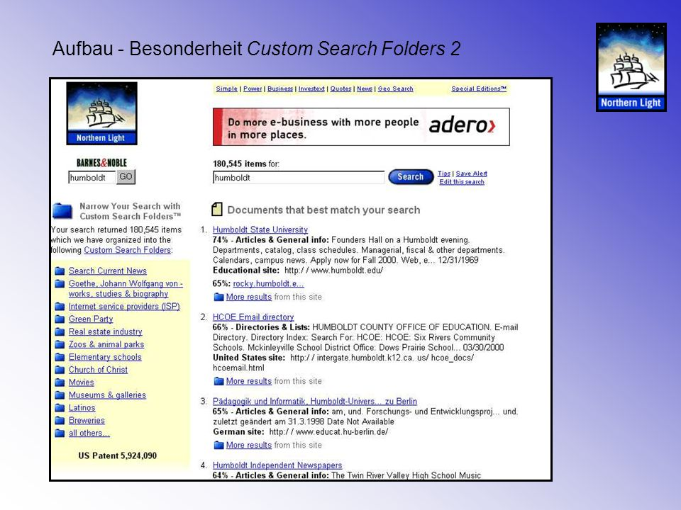 Aufbau - Besonderheit Custom Search Folders 3