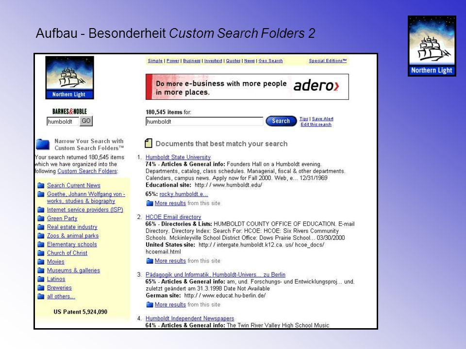 Aufbau - Besonderheit Custom Search Folders 2