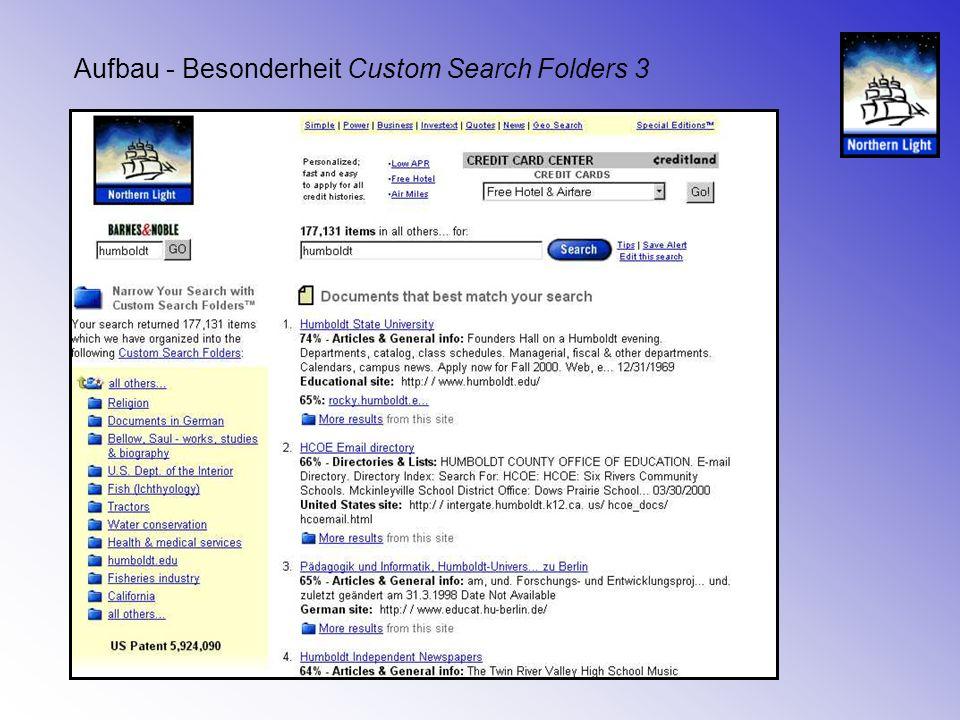 Aufbau - Besonderheit Custom Search Folders 3