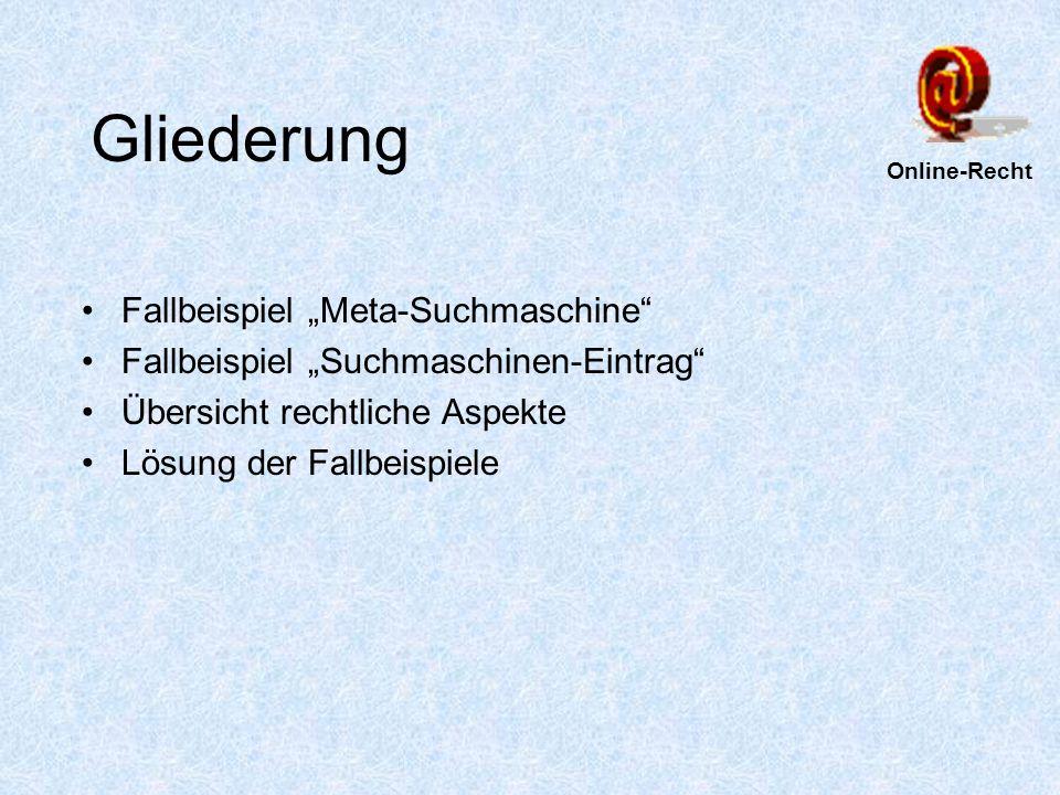Fallbeispiel Metasuchmaschine -Landgericht Berlin Urteil vom 8.