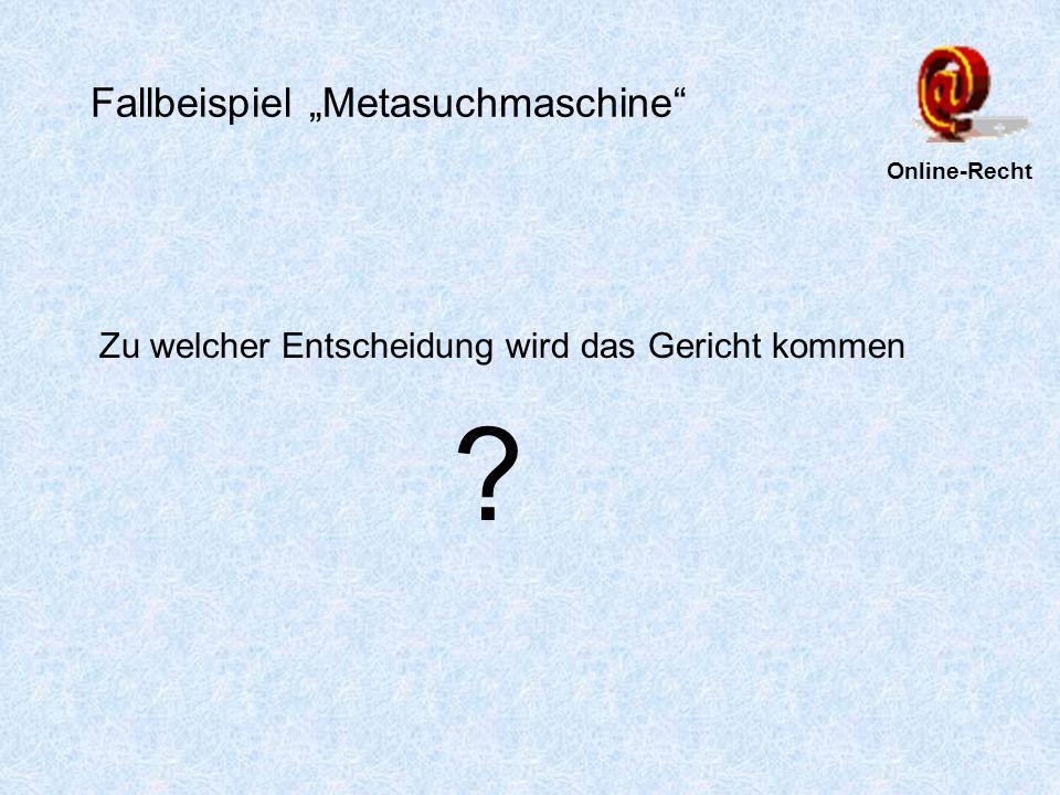 Fallbeispiel Suchmaschinen-Eintrag -Landgericht Mannheim Urteil vom 1.