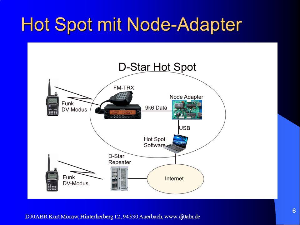 DJ0ABR Kurt Moraw, Hinterherberg 12, 94530 Auerbach, www.dj0abr.de 6 Hot Spot mit Node-Adapter