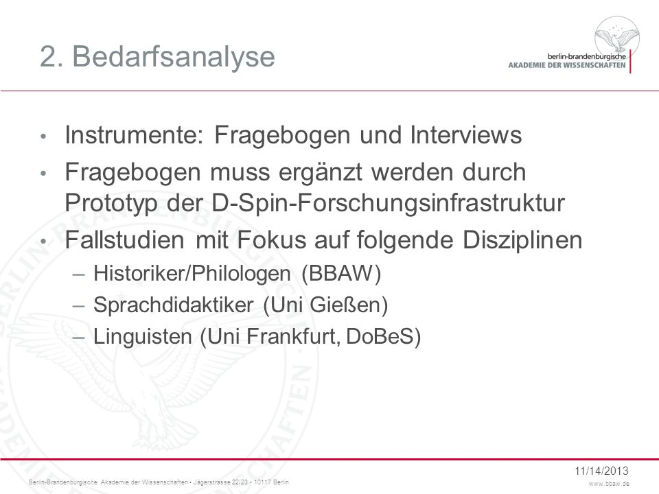 Berlin-Brandenburgische Akademie der Wissenschaften Jägerstrasse 22/23 10117 Berlin www.bbaw.de 3.3 Kumulatives Arbeiten Digitales Textarchiv (1.