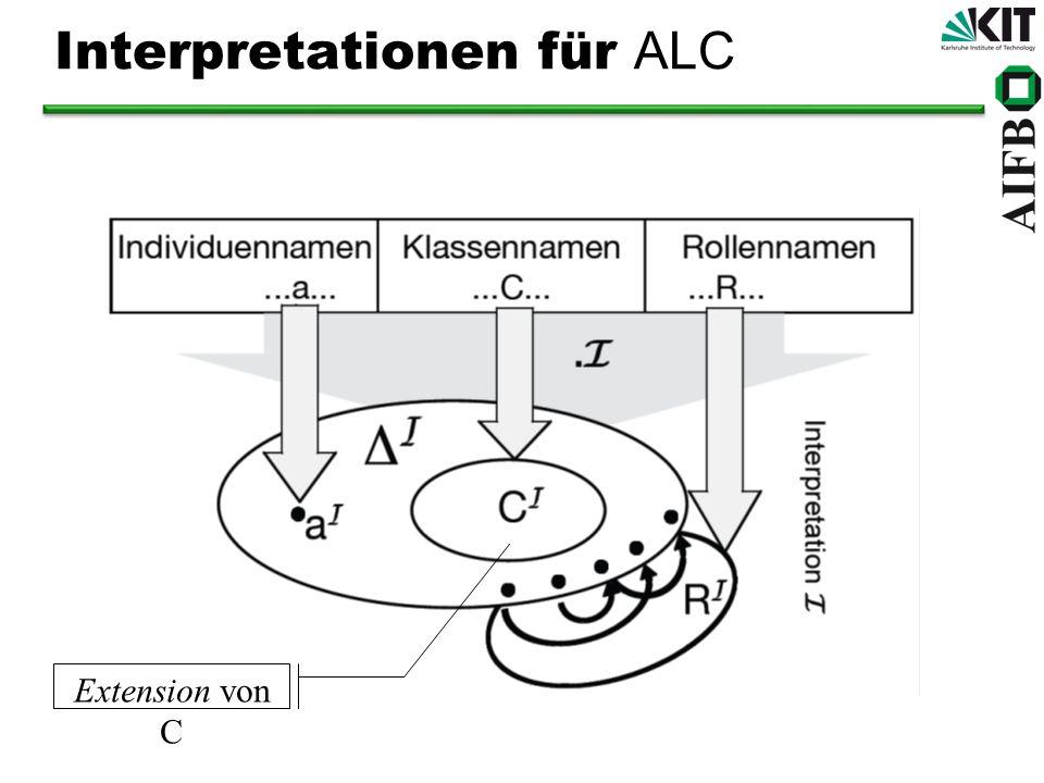 Interpretationen für ALC Extension von C