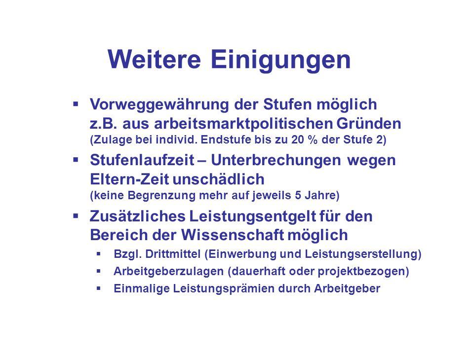 Sonderregelungen Wissenschaft Persönlicher Geltungsbereich Ab 1.11.06 eingestellte LektorInnen und wiss.