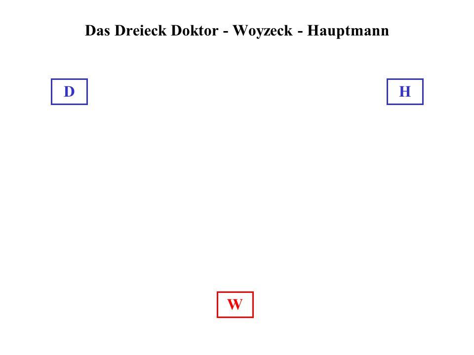 Das Dreieck Doktor - Woyzeck - Hauptmann W DH