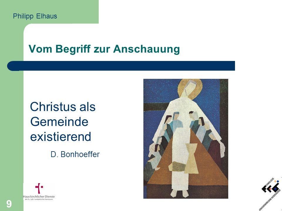 9 Vom Begriff zur Anschauung Christus als Gemeinde existierend D. Bonhoeffer Philipp Elhaus