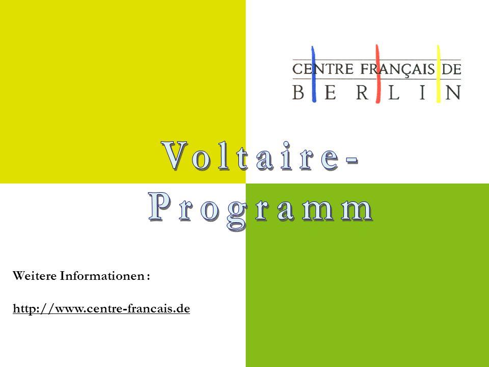 Weitere Informationen : http://www.centre-francais.de