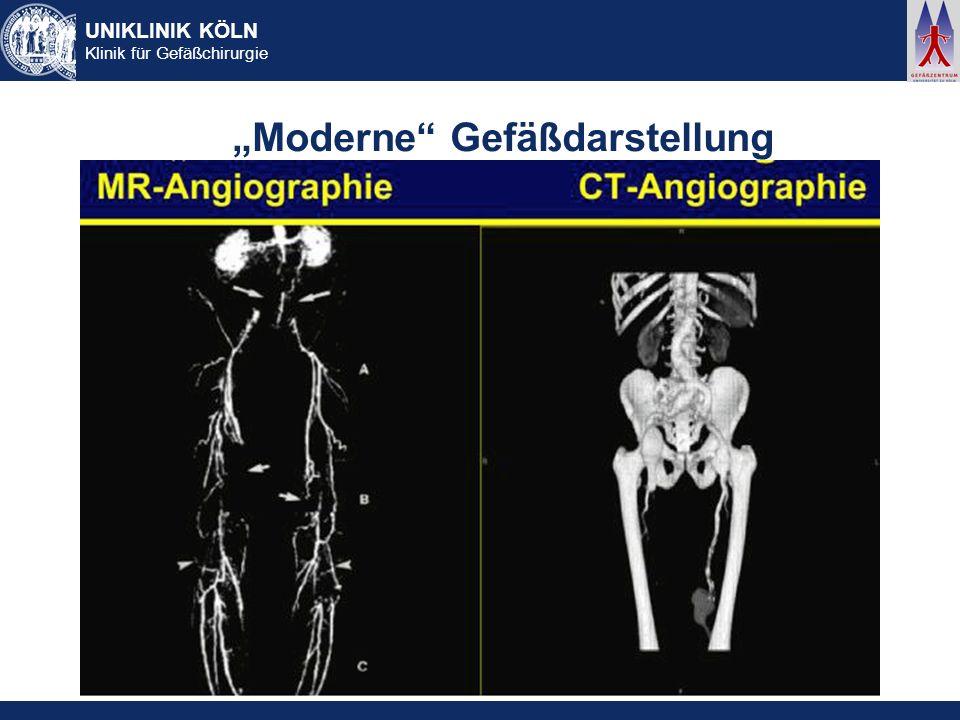 UNIKLINIK KÖLN Klinik für Gefäßchirurgie Moderne Gefäßdarstellung