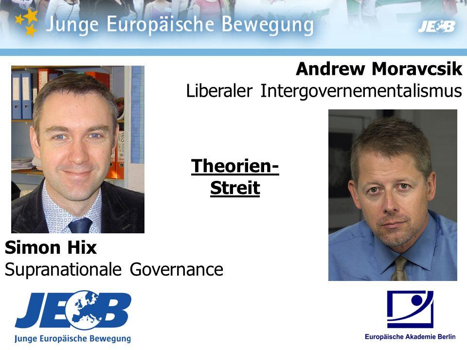 Simon Hix Supranationale Governance Andrew Moravcsik Liberaler Intergovernementalismus Theorien- Streit