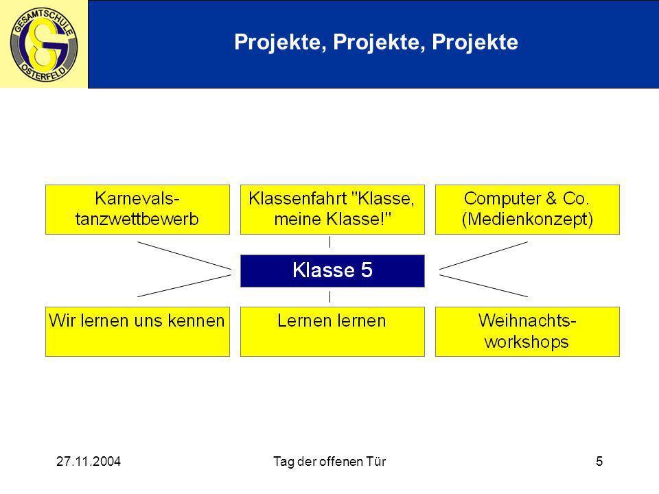 27.11.2004Tag der offenen Tür5 Projekte, Projekte, Projekte