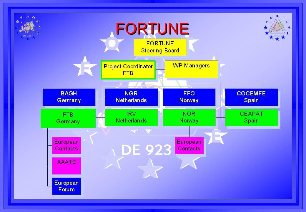 FORTUNE Verbreitung der Ergebnisse Anregung das FORTUNE Konzept aufzugreifen die Herangehensweise das Curriculum das Kurs-Material Erfahrungsaustausch FORTUNE Datenbank