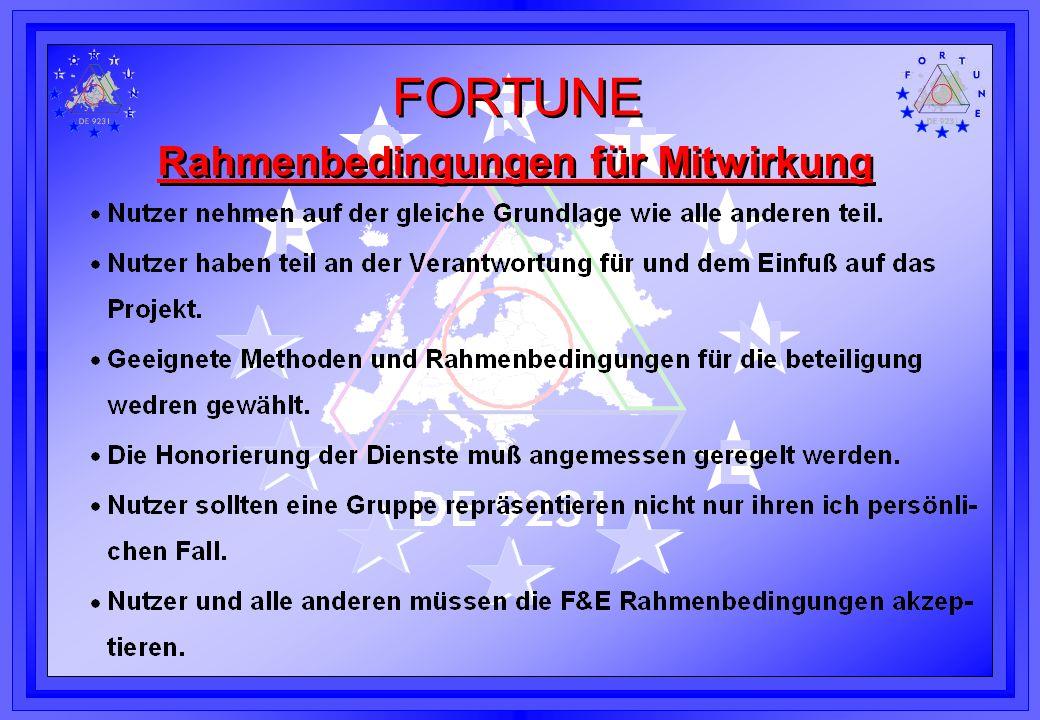 FORTUNE Project Kontakt l FTB Forschungsinstitut Technologie -Behindertenhilfe Prof.