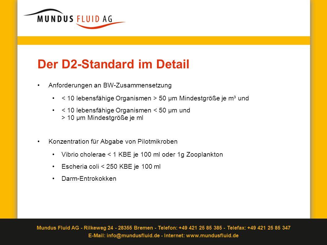Mundus Fluid AG - Rilkeweg 24 - 28355 Bremen - Telefon: +49 421 25 85 385 - Telefax: +49 421 25 85 347 E-Mail: info@mundusfluid.de - Internet: www.mundusfluid.de Test mit erstem Prototypen erfolgreich abgeschlossen Nach Fertigstellung und Einsatz der Prototypen ist die erste Versuchsreihe abgeschlossen.